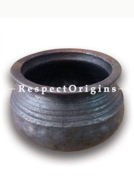Toxic-Free & Hand-Seasoned Using Traditional Methods;Black Clay Biryani/Rice Pot-Pr-50222-70441