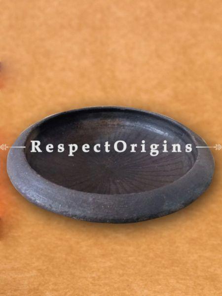 Toxic-Free & Hand-Seasoned Black Clay Tava; 8.5 Inches-Pr-50222-70444