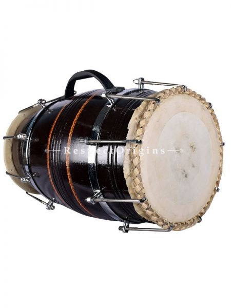 Dholak; Black; Indian Musical Instrument; RespectOrigins.com