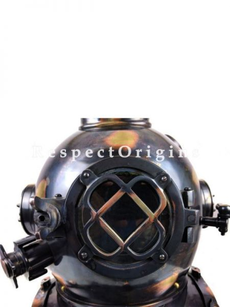 Buy Replica of Sea Diving Helmet, 18 Inches Vintage Black Helmet, Made of Solid Brass withEmbossed (US NAVY MARK V) Letters At RespectOrigins.com