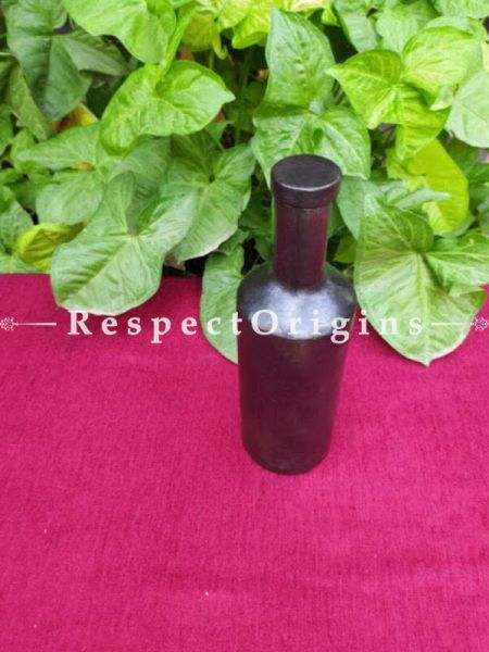 Buy Exotic Earthen Wine or Water Bottle in Longpi Manipuri Black Pottery; Chemical Free At RespectOrigins.com