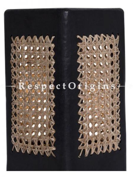 Buy Lamp Shade: Rectangular Clay with Basket Weave; Handcrafted Longpi Manipuri Black Pottery; 6x6x10 in; Chemical Free At RespectOrigins.com