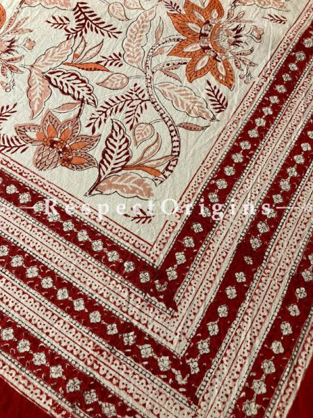 Le Provence Collection! HandBlock-printed Floral Cotton Tablecloth for Al Fresco or Indoor Dining.; RespectOrigins.com