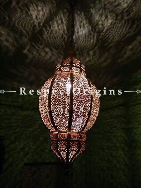 Buy Vintage Filgree Marrakesh Brass Ceiling or Hanging Lamp Pendant Light At RespectOrigins.com