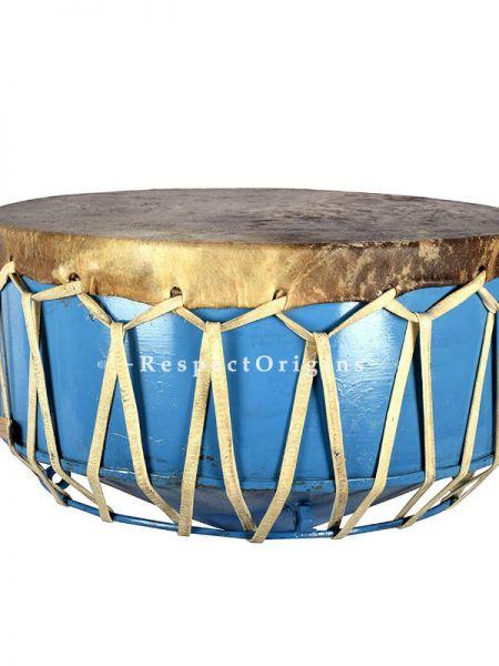 Damaram; Blue; Indian Musical Instrument; RespectOrigins.com