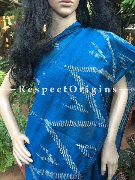 Blue; HandLoom; Cotton Saree, RespectOrigins.com