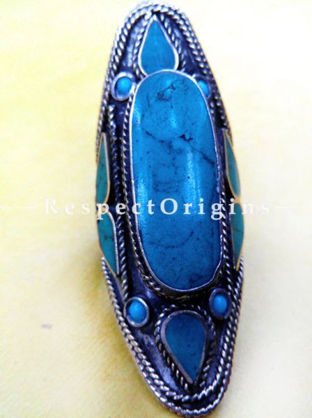 Fanciful Blue stone Ring, Silver, RespectOrigins.com