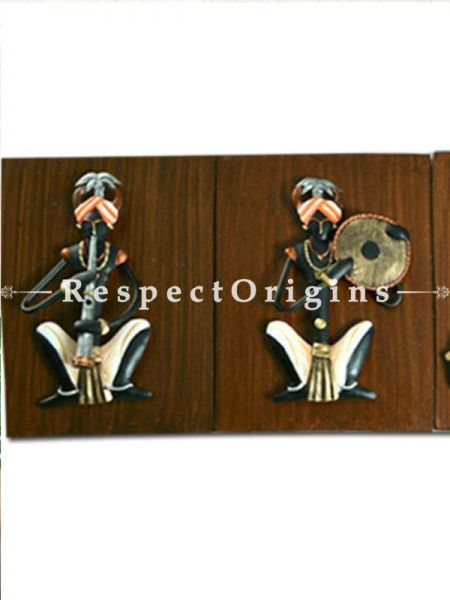 Buy Tribal Wall Art Musicians Wrought Iron, 6x8x2 in At RespectOrigins.com