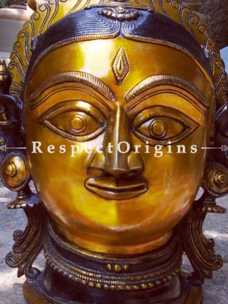 Buy Bold Bust of Goddess Parvati in Bronze At RespectOrigins.com