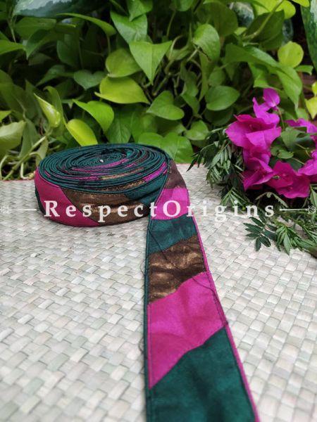 Vintage Embroidered Silk Border; With Multicoloured Base; RespectOrigins.com