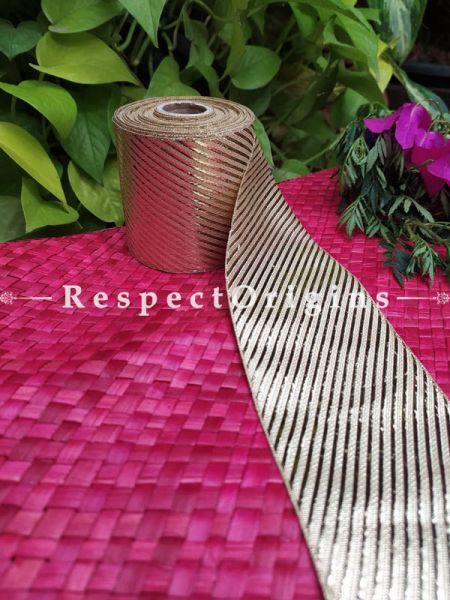 Beautiful Embroidered Silk Border; With Golden Strip Gota Work; RespectOrigins.com