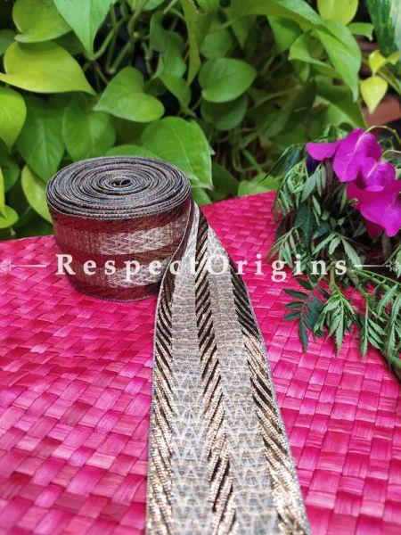 Vintage Embroidered Silk Border; With Golden Strip Gota Work; RespectOrigins.com
