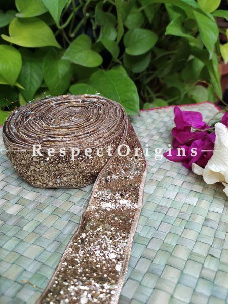Beautiful Embroidered Silk Border; With Golden Shimmer Gota Work; RespectOrigins.com