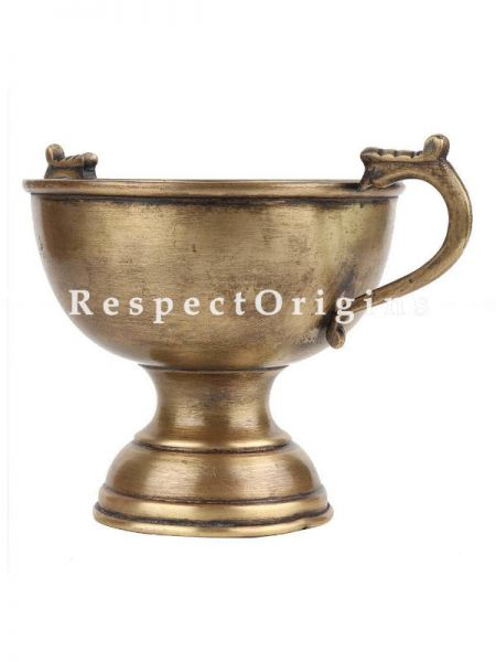 Buy Brass Bowl With Two Handles On A stand At RespectOrigins.com