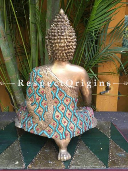 Buy Seated Buddha Brass and Ladakhi Stonework at RespectOrigins.com