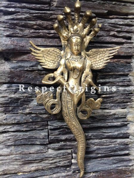 Buy Wall Hanging Mansa Devi; Brass at RespectOrigins.com