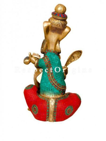 Buy Unique Representation of Ganesha writing Scriptures in Brass; 24 inch At RespectOrigins.com