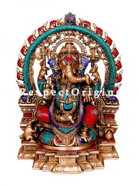 Buy Handcrafted Exclusive Lord Ganesha Brass Statue 18 Inches at RespectOrigins.com