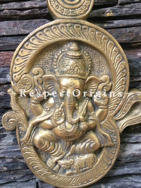Buy Wall Hanging Ganesha; Brass at RespectOrigins.com