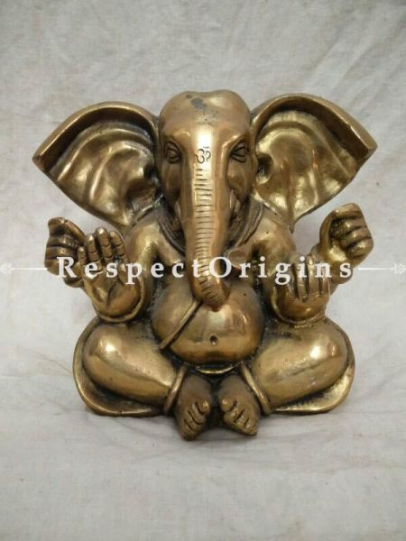 Buy Ganesha Statue; Brass at RespectOrigins.com