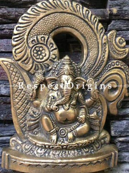 Buy Ganesha Statue; Brass at RespectOrigins.com