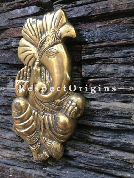 Buy Ganesha wall hangings; Brass at RespectOrigins.com