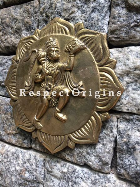 Buy Wall Hanging Hanuman; Brass at RespectOrigins.com
