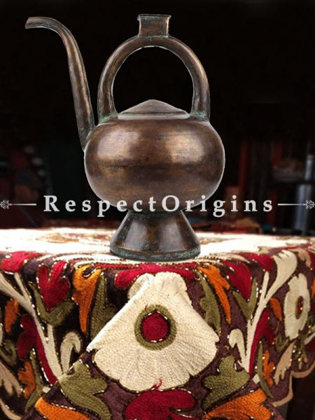 Buy Traditional Brass Kamandal With Handle And Spout And Tiny BoxOn Handle At RespectOrigins.com