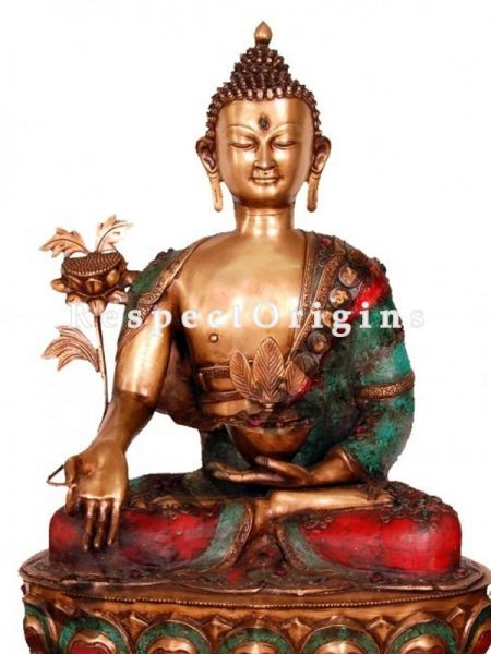 Buy Handcrafted Shakyamuni Buddha Statue Brass 44 Inches at RespectOrigins.com