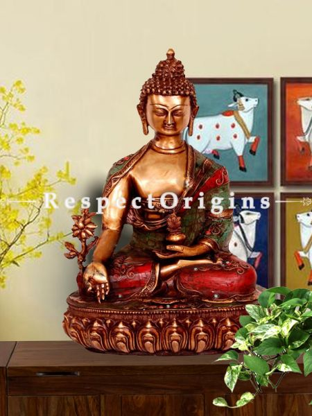 Buy Handcrafted Brass Wishing Buddha Statue18 Inches at RespectOrigins.com