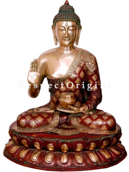 Buy Brass Exclusive Buddha Statue 27 Inches at RespectOrigins.com