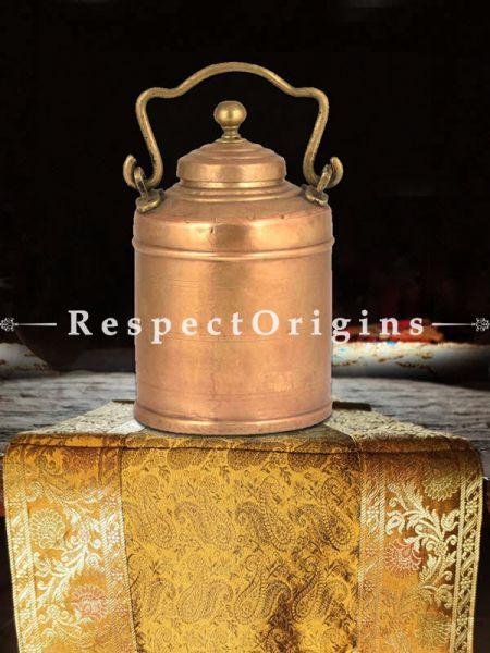 Buy Brass Milk Pot Cylindrical Shape Decorative Handle At RespectOrigins.com