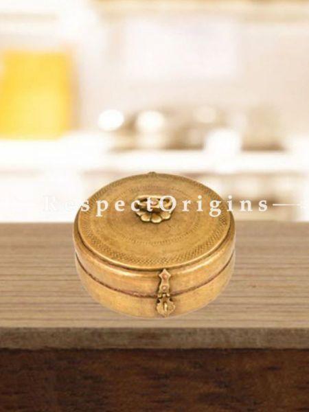 Buy Ethnic Brass Round Roti Box, Collectibles, Vintage Keepsake Box At RespectOrigins.com