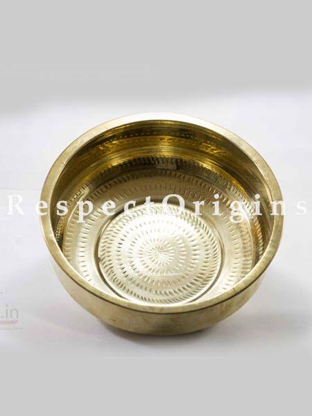 Handcrafted Traditional Brass Vessel Tharpane; RespectOrigins.com