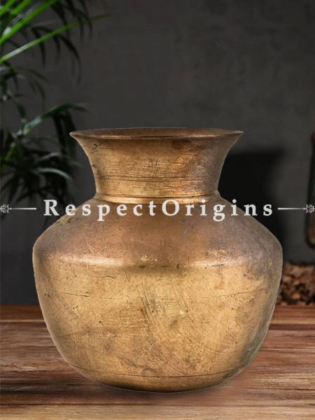 Buy Rare Brass Water Storage Water Pot With Wide Mouth At RespectOrigins.com