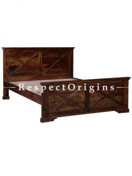 Buy Brianna Queen Bedroom Set; Double Bed, 2 Night Stands with Drawer & Single Door, Dresser At RespectOrigins.com