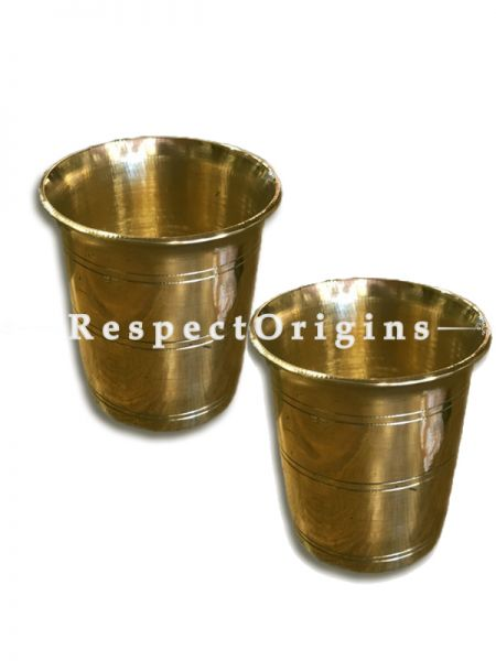Handcrafted (Kansa) Bronze Glass Set Of 2-Pr-50222-70459