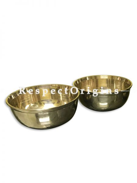 Handcrafted (Kansa) Bronze Serving Bowl-Pr-50222-70458