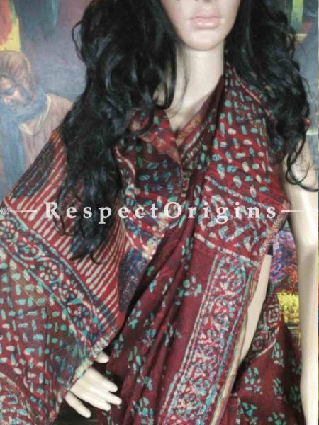 Buy Brown Maheshwari Cotton Sarees, Cotton Online; RespectOrigins.com