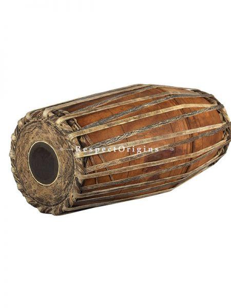 Jack Fruit Wood Mridangam or Pakhawaj; Indian Musical Instrument; RespectOrigins.com
