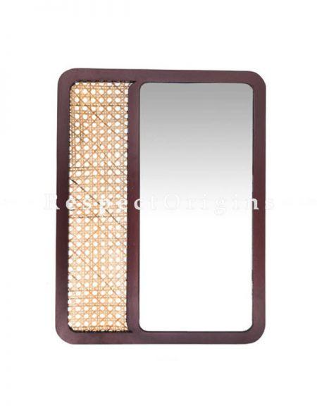 Buy Brown Plywood Glass Wall Mirror At RespectOrigins.com