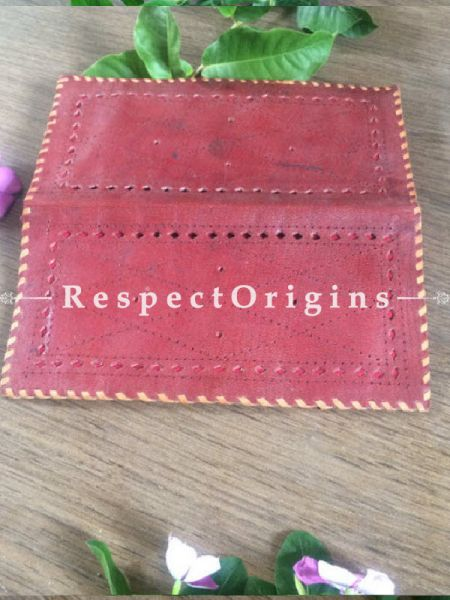 Buy Brown Rajasthani Leather Womens Punched Wallet; RespectOrigins.com