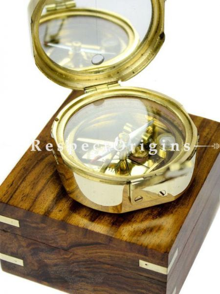 Buy 3 Inches Brunton Maritime Gimbaled Nautical Compass With Storage Box At RespectOrigins.com