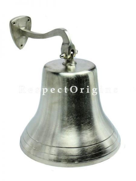 Buy Brushed Nickel Aluminum Bell, Zero Scuffings; Lavish ornamental Pirates Decor Functional Bells 11 inches At RespectOrigins.com