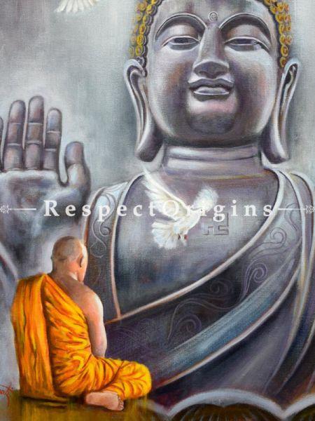 Buddha ; Acrylic on Canvas ; 24X18 In ; Horizontal Painting|RespectOrigins.com