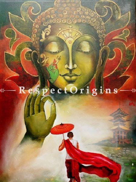 Original art|Art Collector|Big Buddha Indian Painting at RespectOrigins