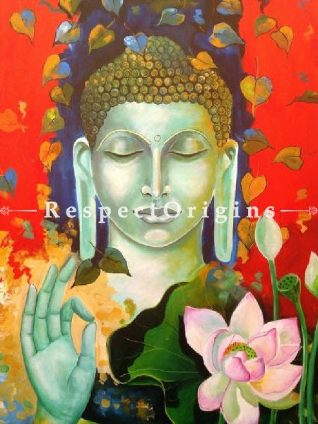 Original art|wall Art|Blessing Buddha Indian Painting at RespectOrigins