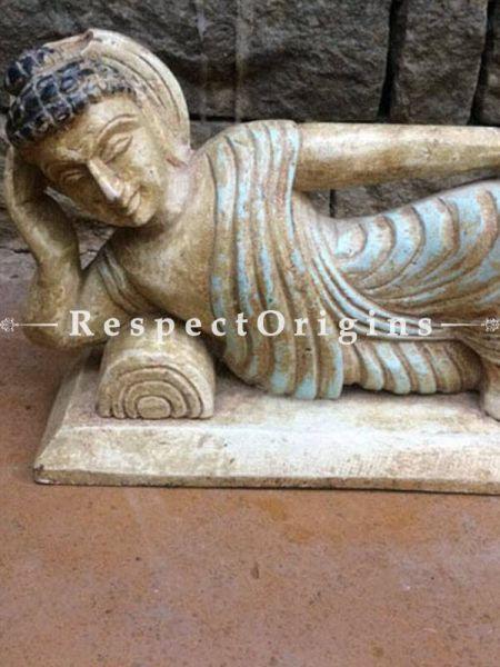 Buy Buddha Statue or Figurine; Tamil Nadu Wood Craft, 7x4x10 in At RespectOrigins.com