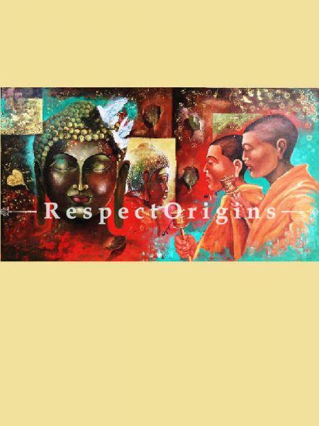 Original art|Art Collector|Buddha & Monk Inidan Painting at RespectOrigins