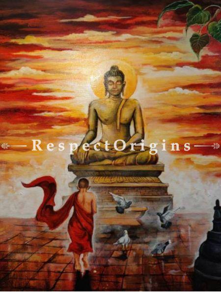 Original art|Art Collector|Large Buddha Indian Painting at RespectOrigins